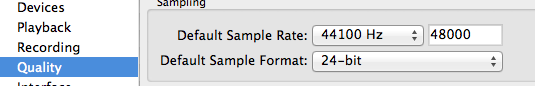 Sample Rate Audacity