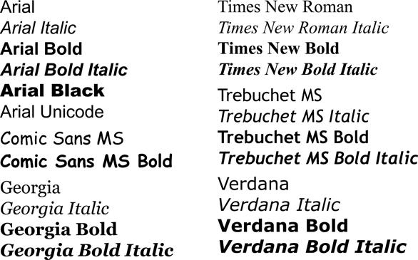 Cross-platform fonts
